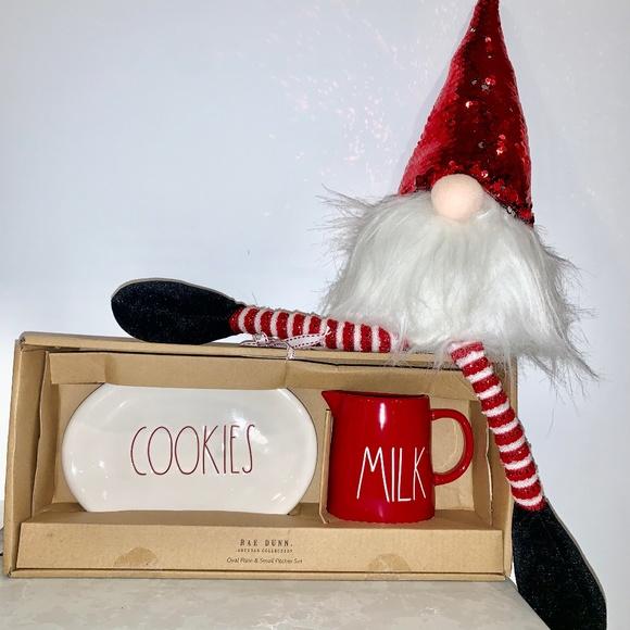 Rae Dunn COOKIES & MILK gift set CHRISTMAS!